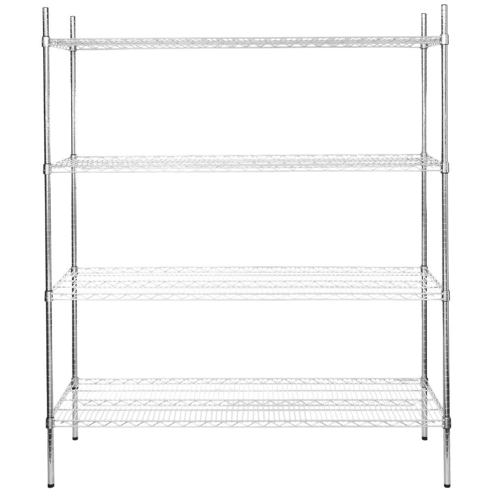 Regency 21 inch x 60 inch NSF Chrome Shelf Kit with 74 inch Posts