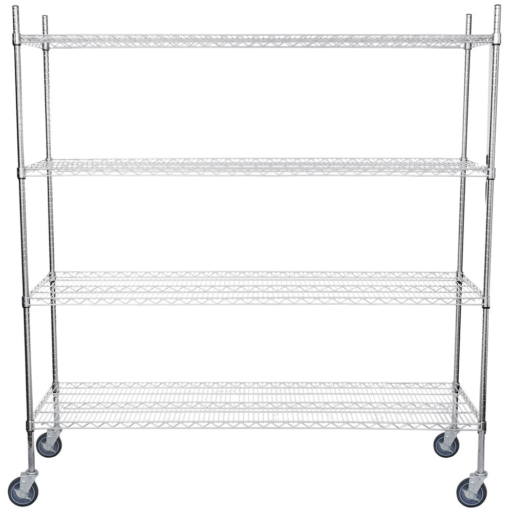Regency 21 inch x 72 inch NSF Chrome Shelf Kit with 64 inch Posts and Casters