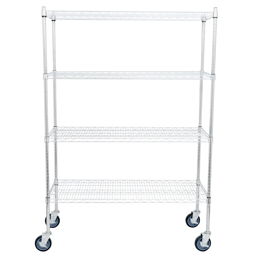 Regency 21 inch x 48 inch NSF Chrome Shelf Kit with 64 inch Posts and Casters