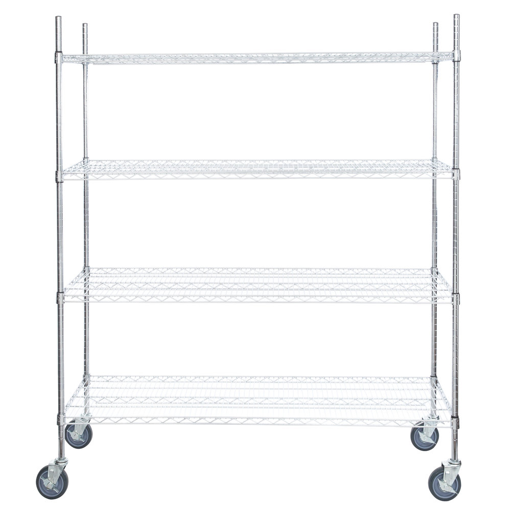 Regency 21 inch x 60 inch NSF Chrome Shelf Kit with 64 inch Posts and Casters