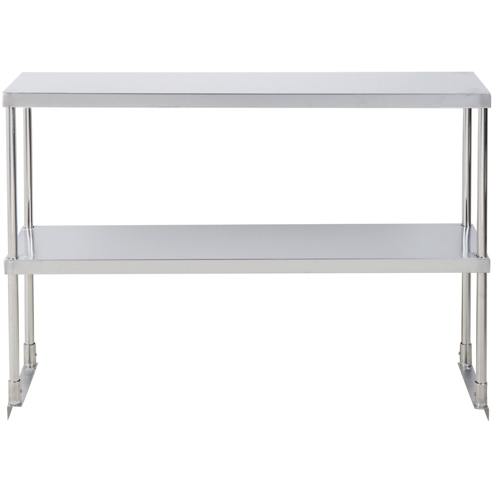 Avantco 178ssdos4812 Stainless Steel Double Deck Overshelf