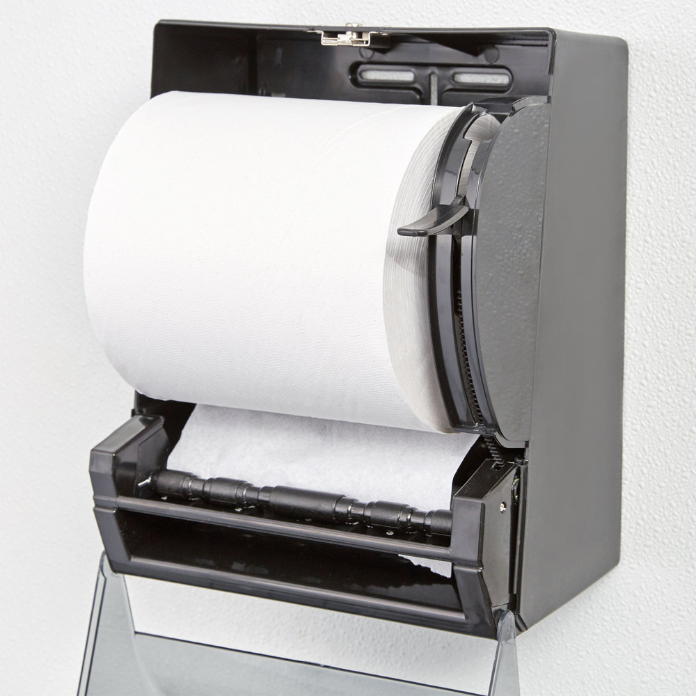 Lavex Janitorial  White Hardwound Roll Paper Towel Case -  bathroom paper towel holder