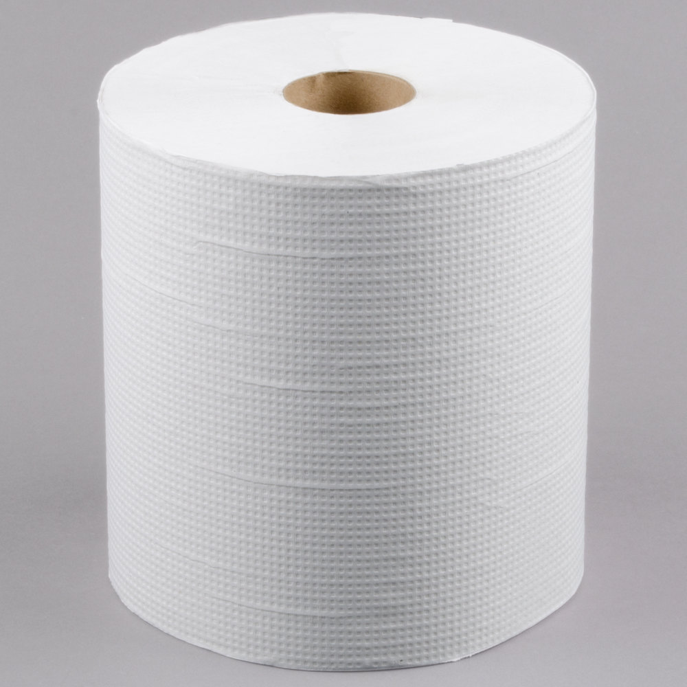 colors lavex janitorial 800 white hardwound roll paper towel 6case - Paper Towel Roll