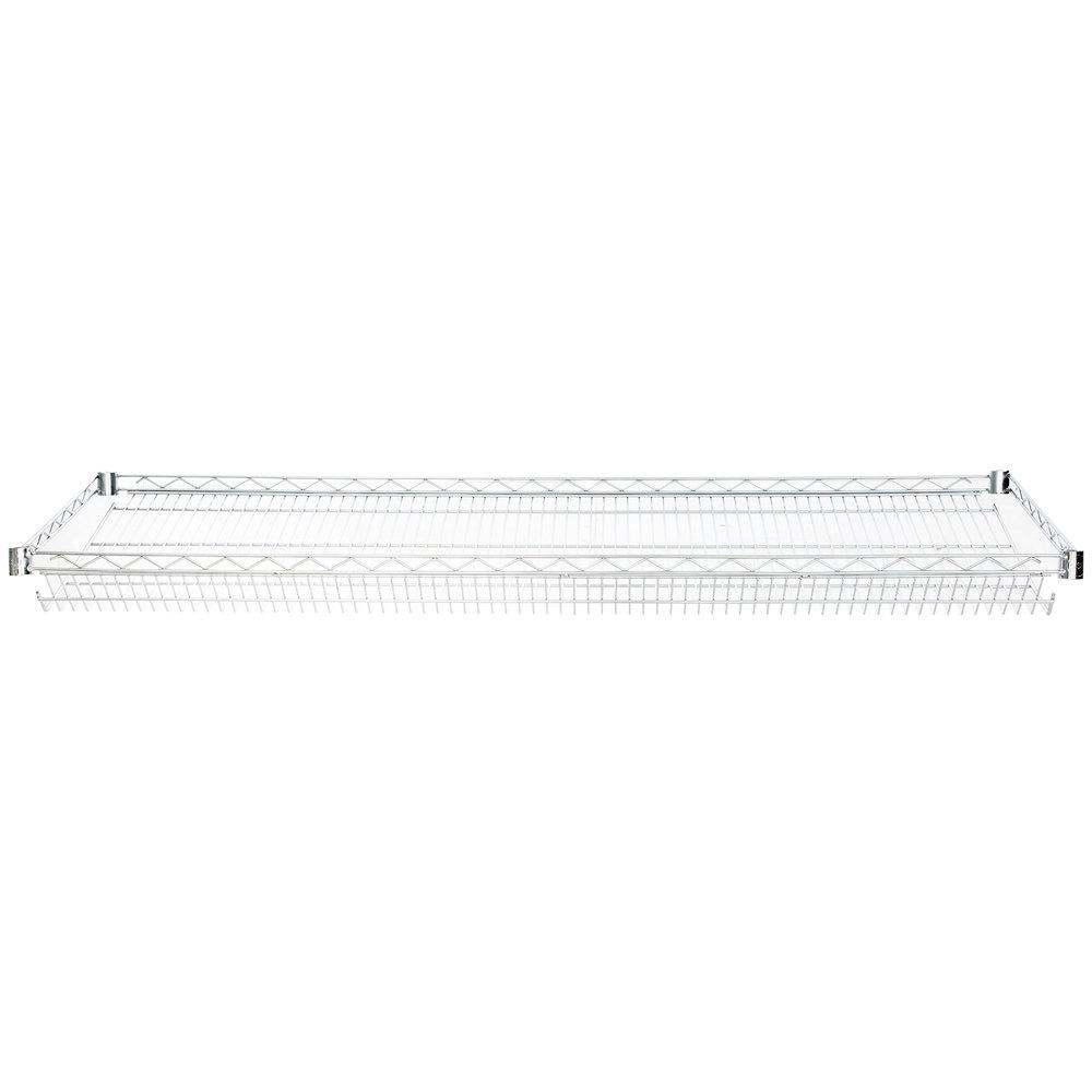 Regency 18 inch x 60 inch NSF Chrome Slanted Wire Shelf