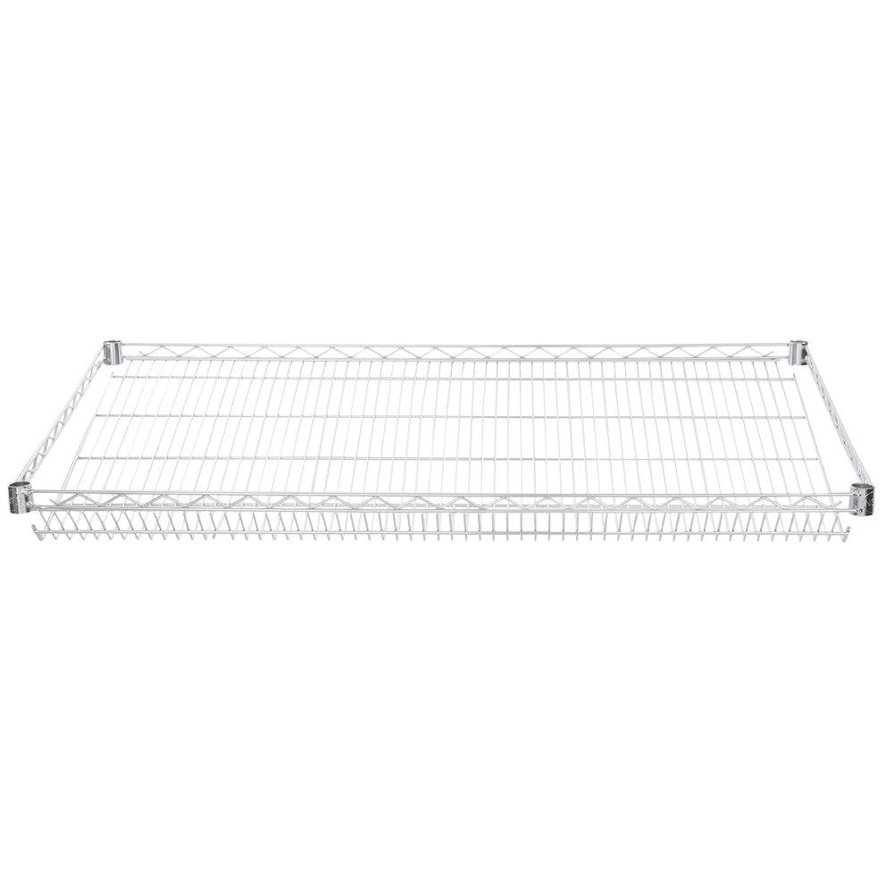 Regency 24 inch x 48 inch NSF Chrome Slanted Wire Shelf