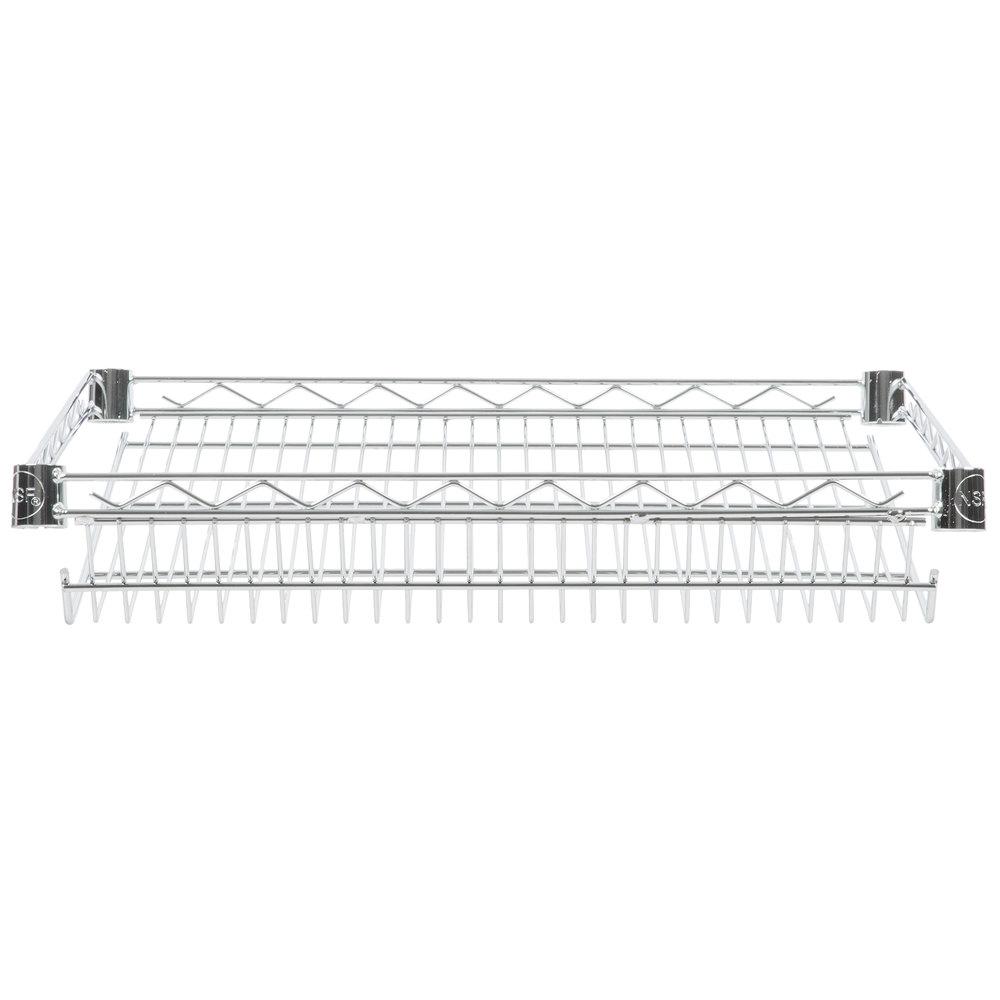 Regency 18 inch x 24 inch NSF Chrome Slanted Wire Shelf