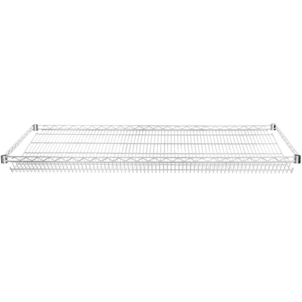Regency 24 inch x 60 inch NSF Chrome Slanted Wire Shelf