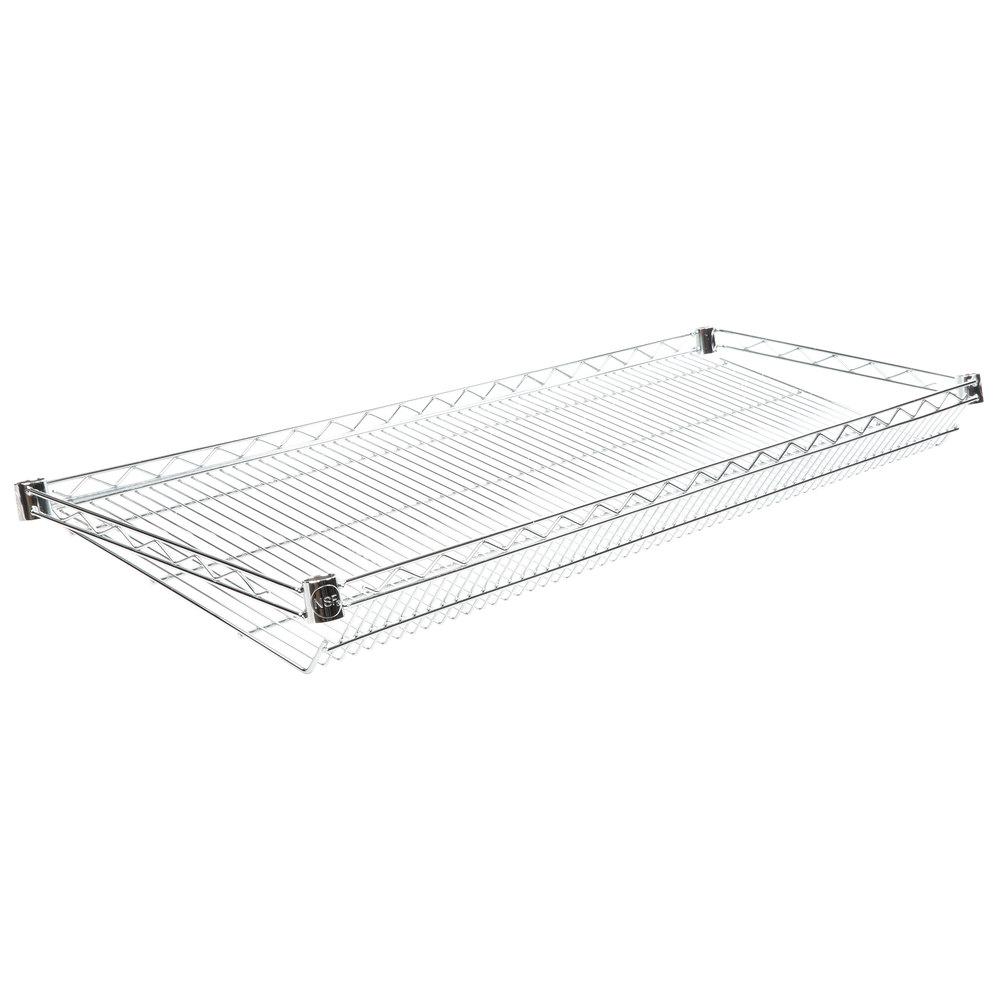 Regency 18 inch x 48 inch NSF Chrome Slanted Wire Shelf