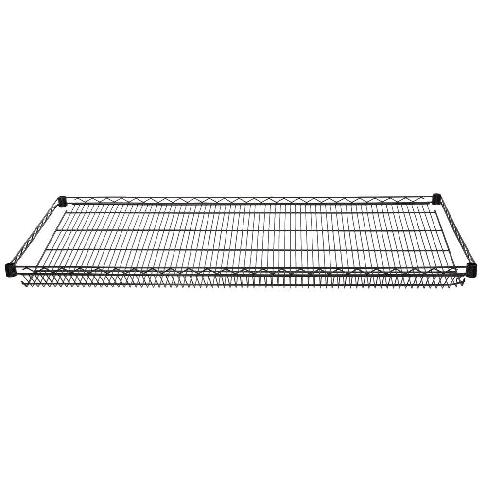 Regency 24 inch x 60 inch NSF Black Epoxy Slanted Wire Shelf