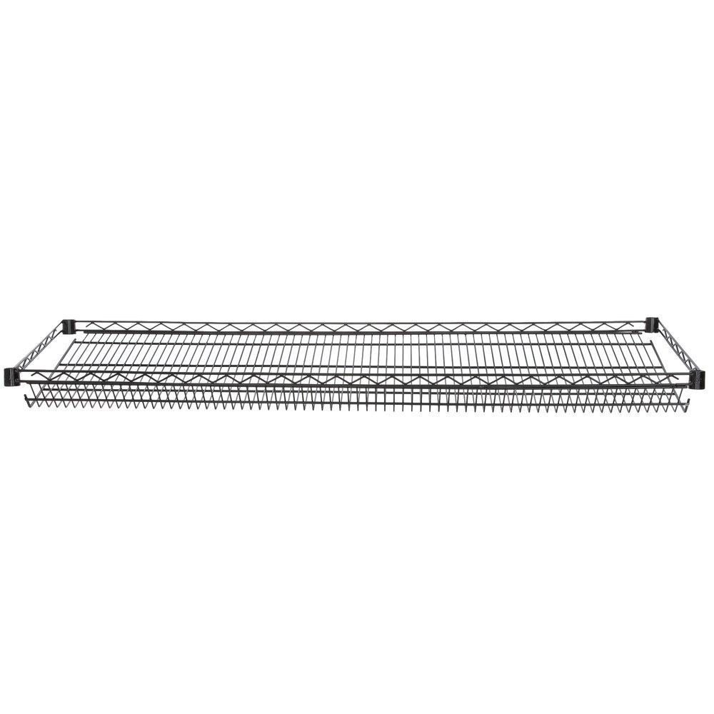 Regency 18 inch x 60 inch NSF Black Epoxy Slanted Wire Shelf