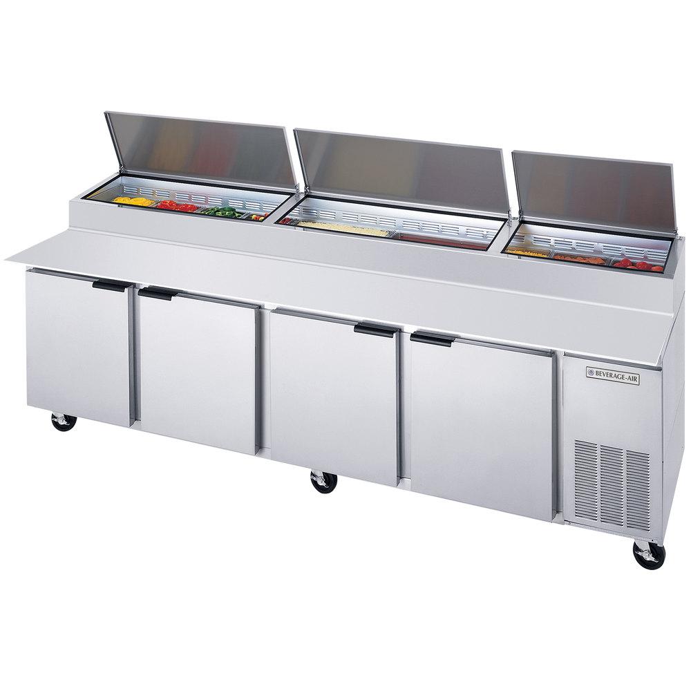 Pizza Prep Tables Pizza Prep Refrigerators WebstaurantStore - Cold prep table for sale