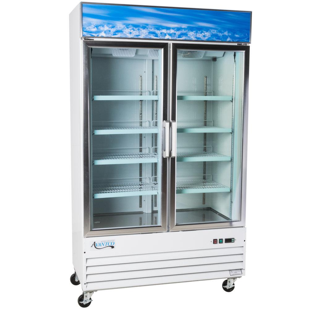 Avantco Gdc 40f 49 Quot White Swing Glass Door Merchandising