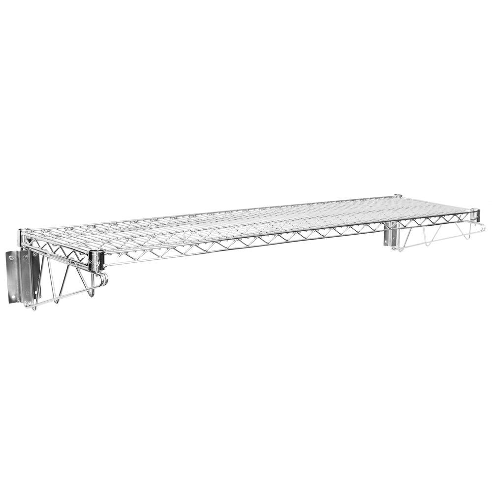 Regency 14 inch x 48 inch Wall Mount Chrome Wire Shelf