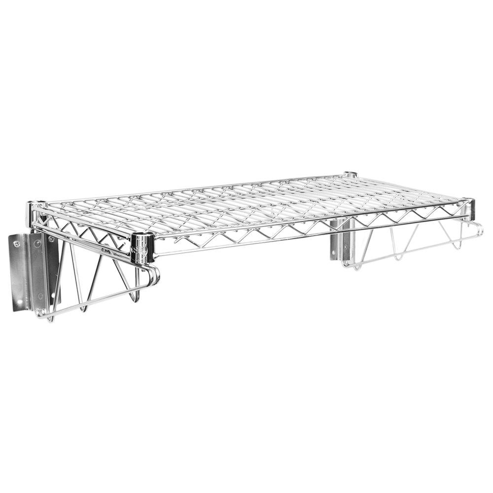 Regency 14 inch x 24 inch Wall Mount Chrome Wire Shelf