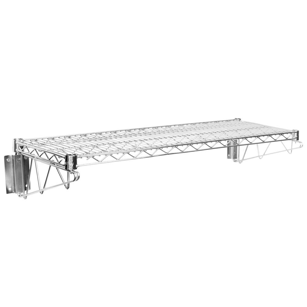 Regency 14 inch x 36 inch Wall Mount Chrome Wire Shelf