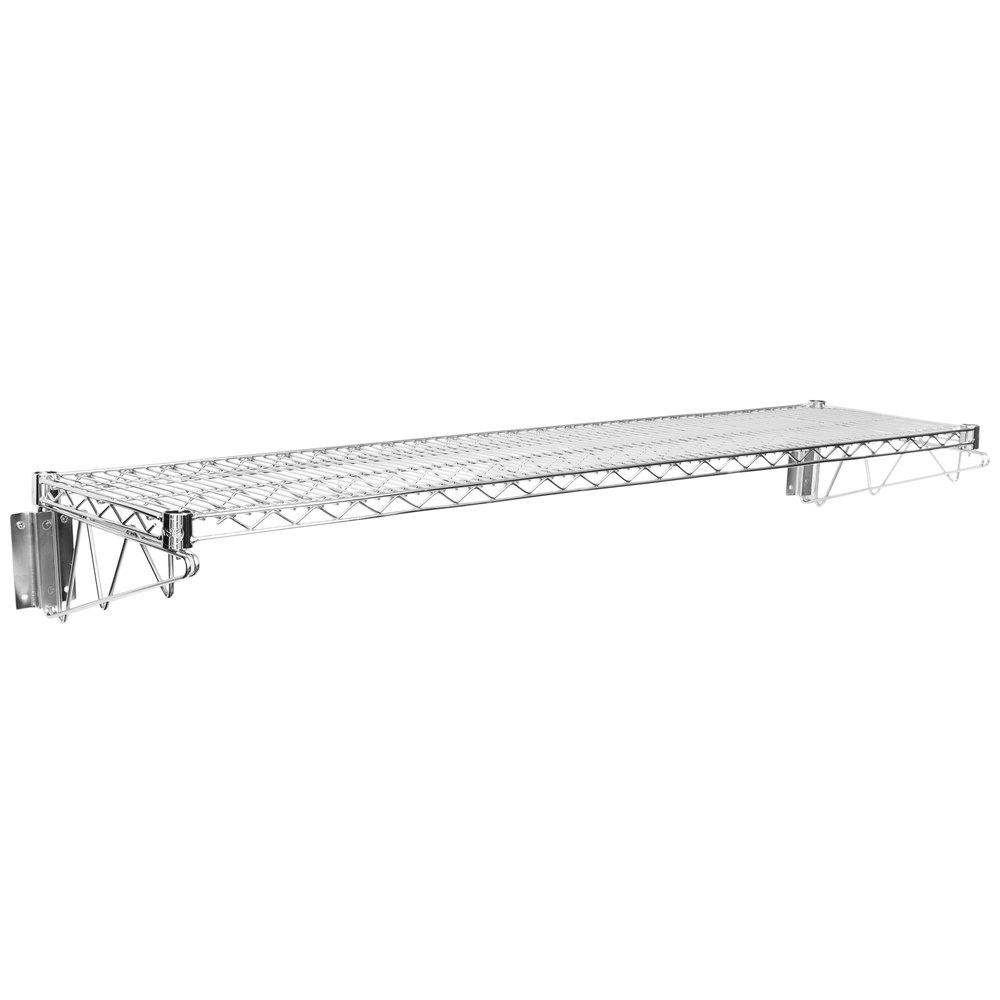 Regency 14 inch x 60 inch Wall Mount Chrome Wire Shelf