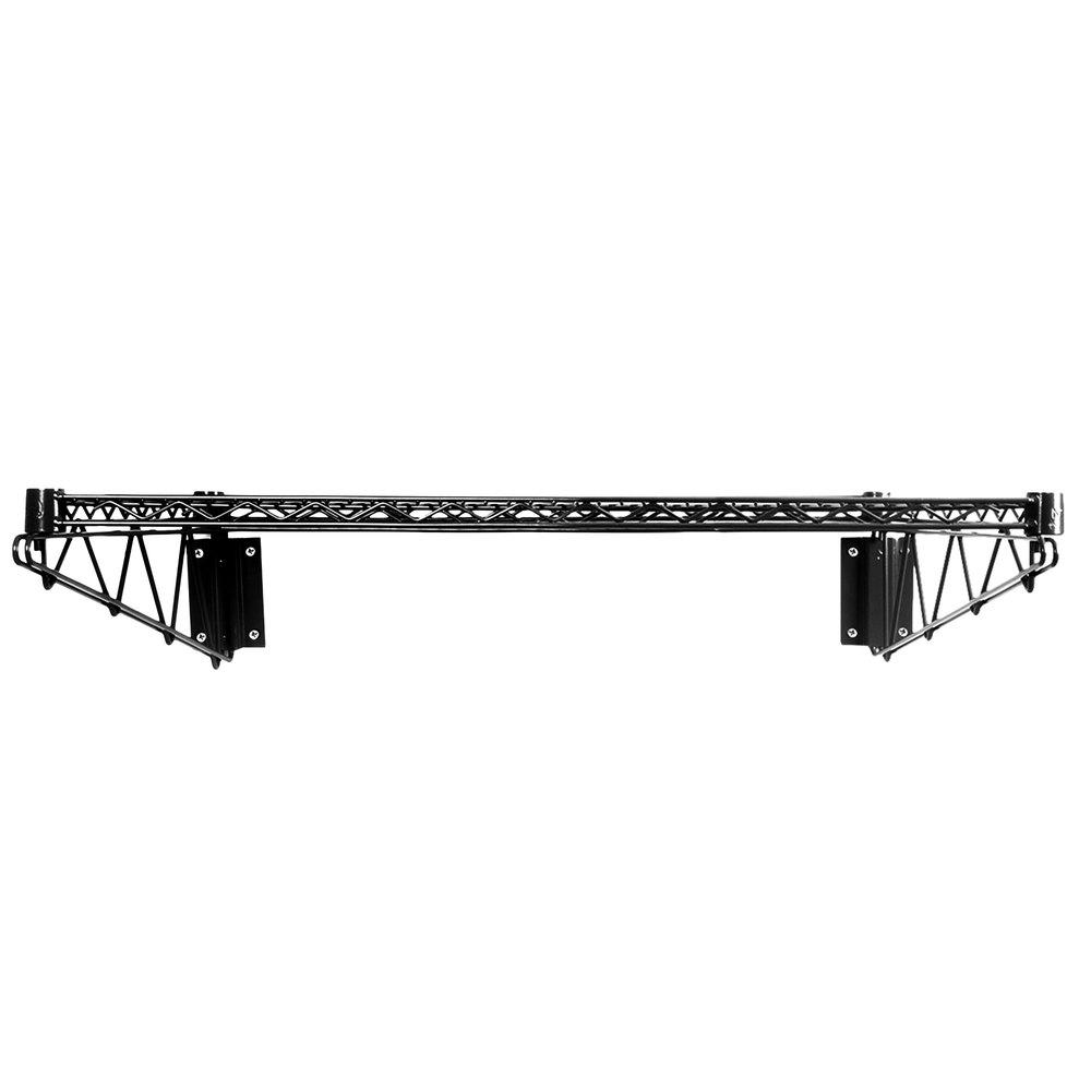 Regency 24 inch x 36 inch Black Epoxy Wire Wall Mount Shelf