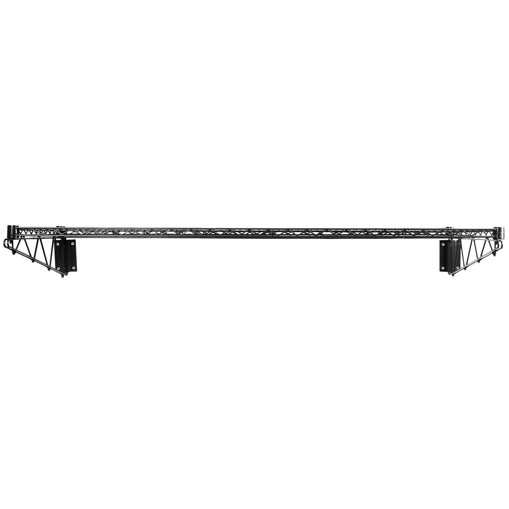 Regency 24 inch x 60 inch Black Epoxy Wire Wall Mount Shelf