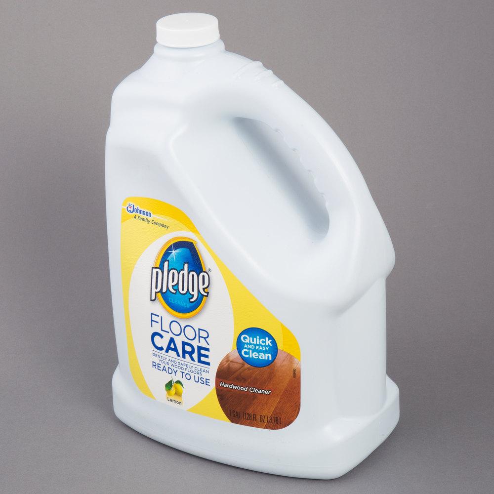 Wax Floor Cleaner: SC Johnson Pledge® 605896 1 Gallon / 128 Oz. Hardwood