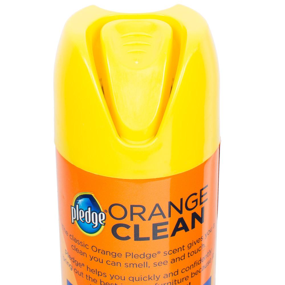 Sc Johnson Pledge 174 671304 9 7 Oz Orange Clean Aerosol