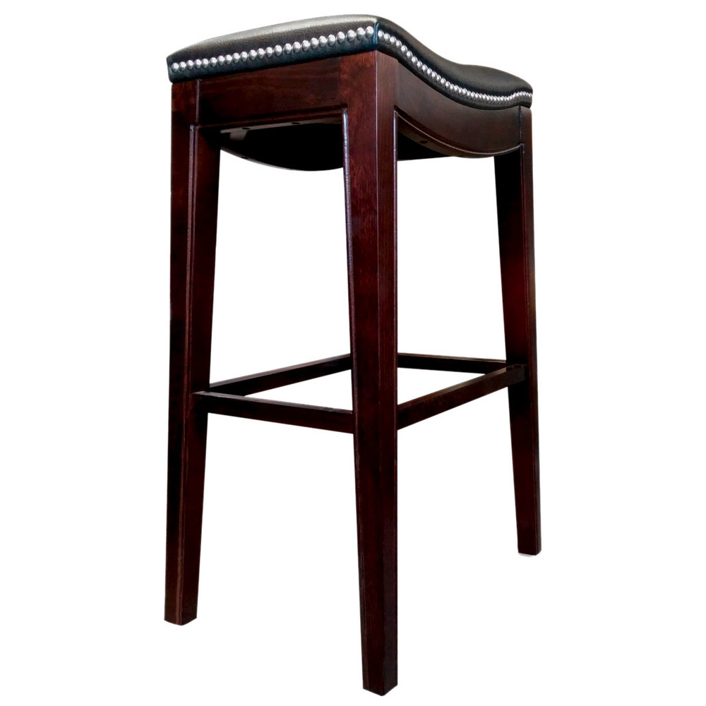 Holland Bar Stool 321025esblkvinyl Lynn Espresso Wood