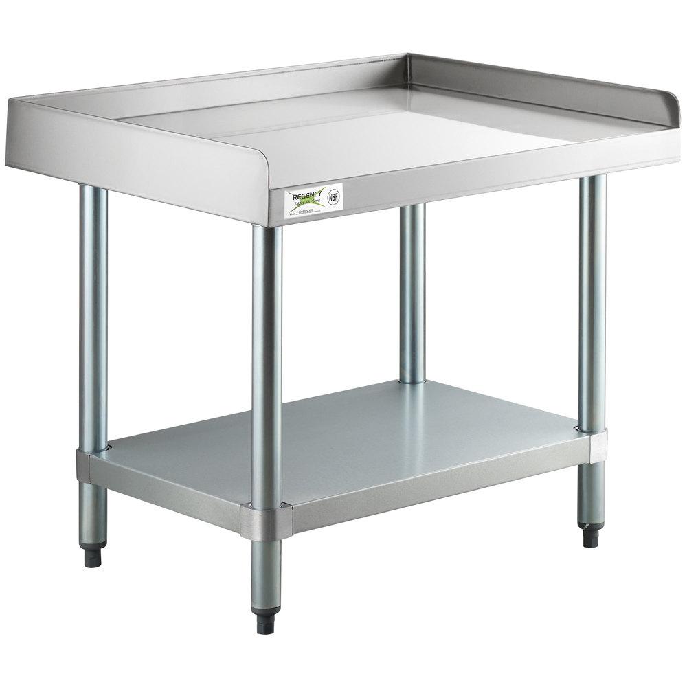Regency 24 inch x 30 inch 16-Gauge Stainless Steel Equipment Stand with Galvanized Undershelf