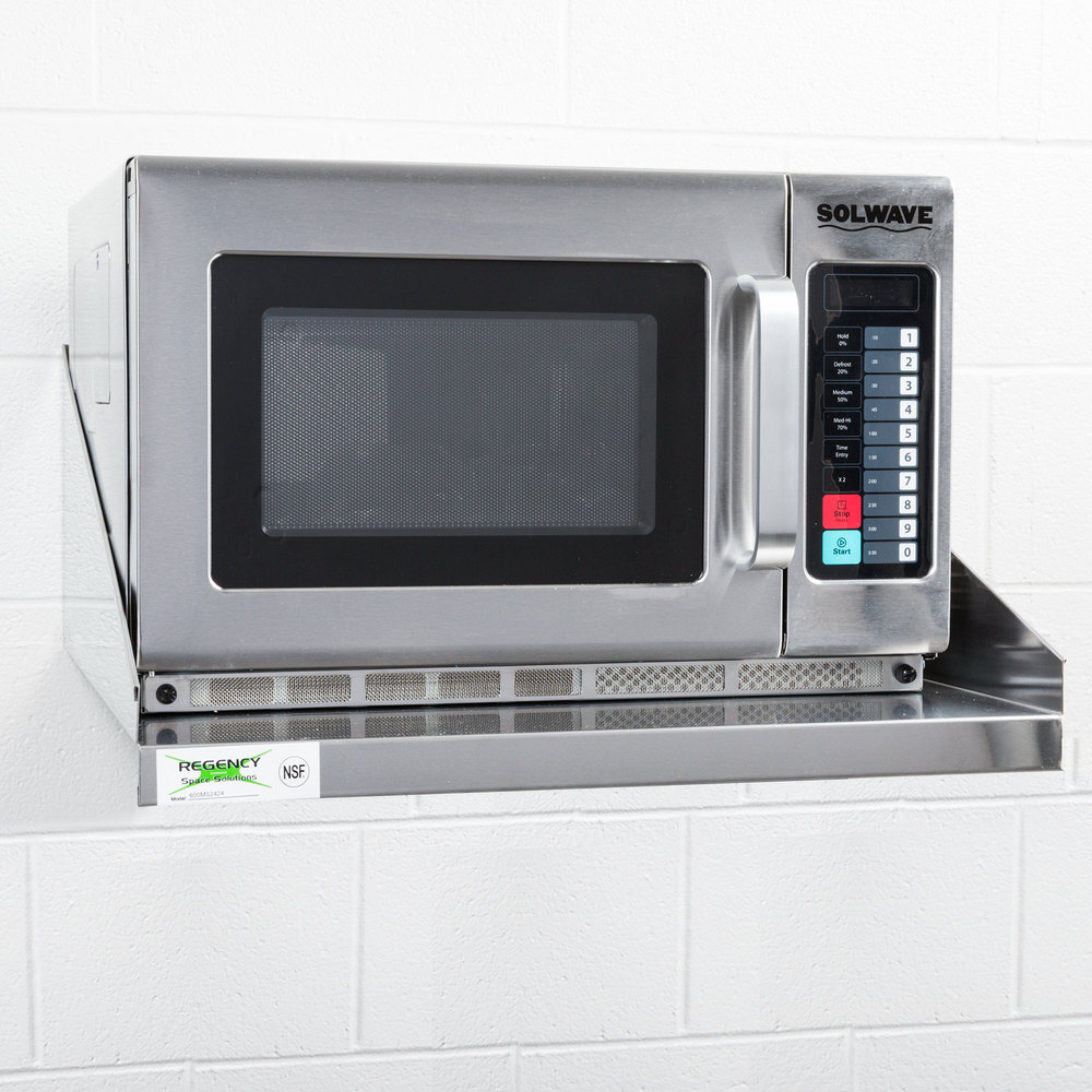 Regency 24 Quot X 24 Quot Stainless Steel Microwave Shelf
