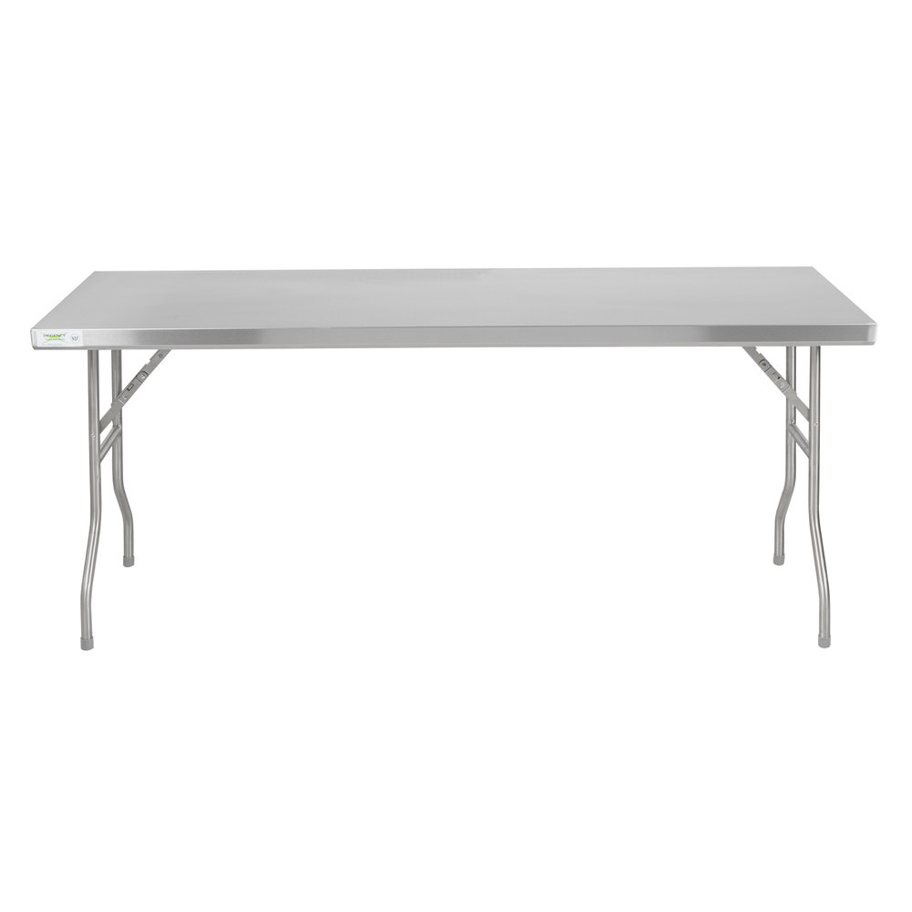 Stainless Steel Folding Work Tables Regency - Stainless steel open base work table