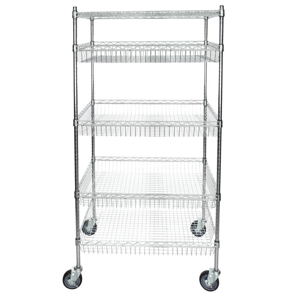 Regency NSF Chrome 4 Basket and 1 Shelf Kit - 24 inch x 36 inch x 69 inch