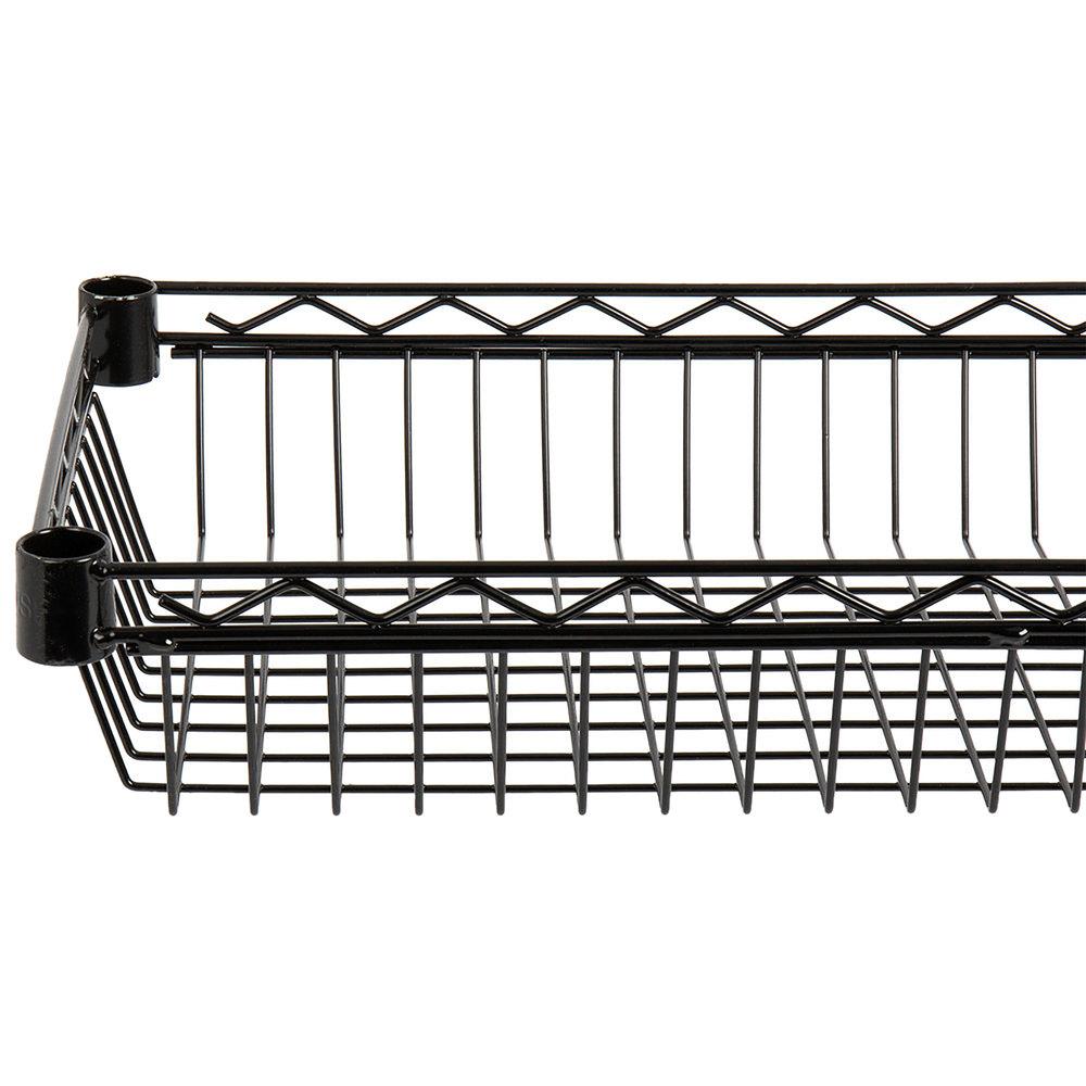 Regency 24 inch x 36 inch NSF Black Epoxy Shelf Basket