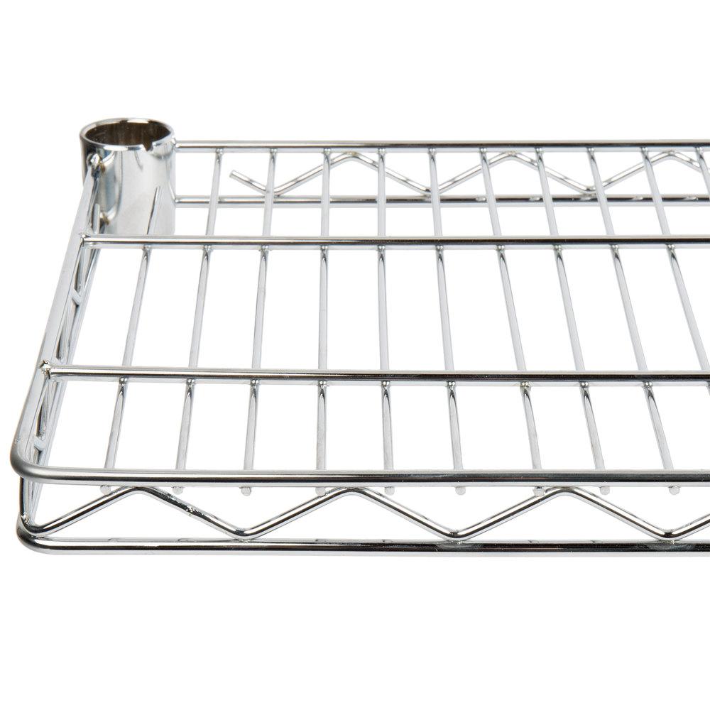 Regency 12 inch x 24 inch NSF Chrome Wire Cantilever Shelf