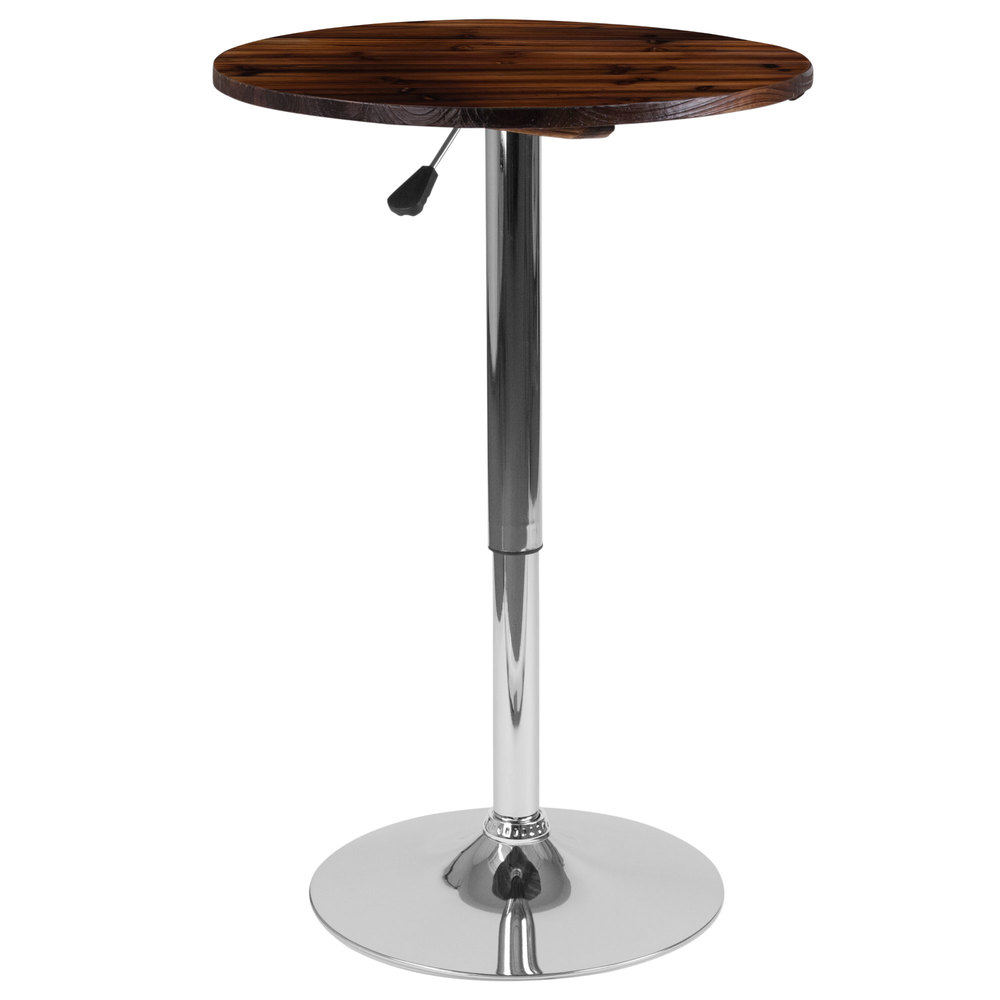"Round Adjustable Height Coffee Table: Flash Furniture CH-9-GG 23 1/2"" Round Adjustable Height"