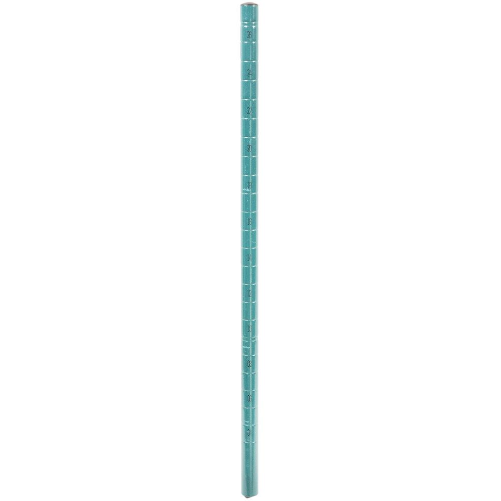 Regency NSF 27 inch Green Epoxy Mobile Shelving Post