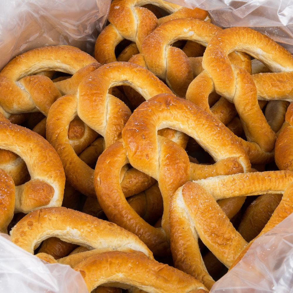 Frozen soft pretzels in bag