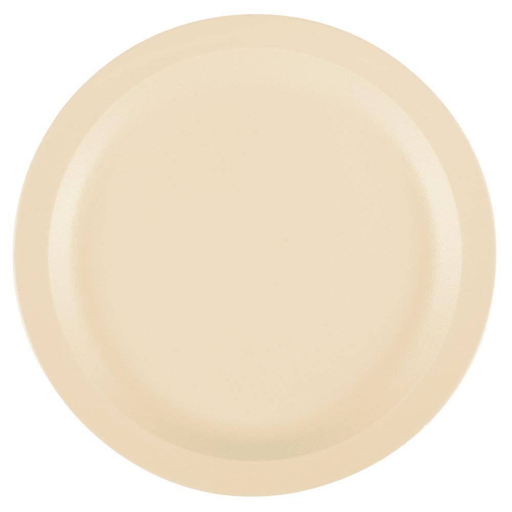 Cambro 9CWNR133 Camwear 9 inch Beige Polycarbonate Narrow Rim Plate - 48/Case ...  sc 1 st  WebstaurantStore & Reusable Plastic Plates | Reusable Plastic Dinner Plates