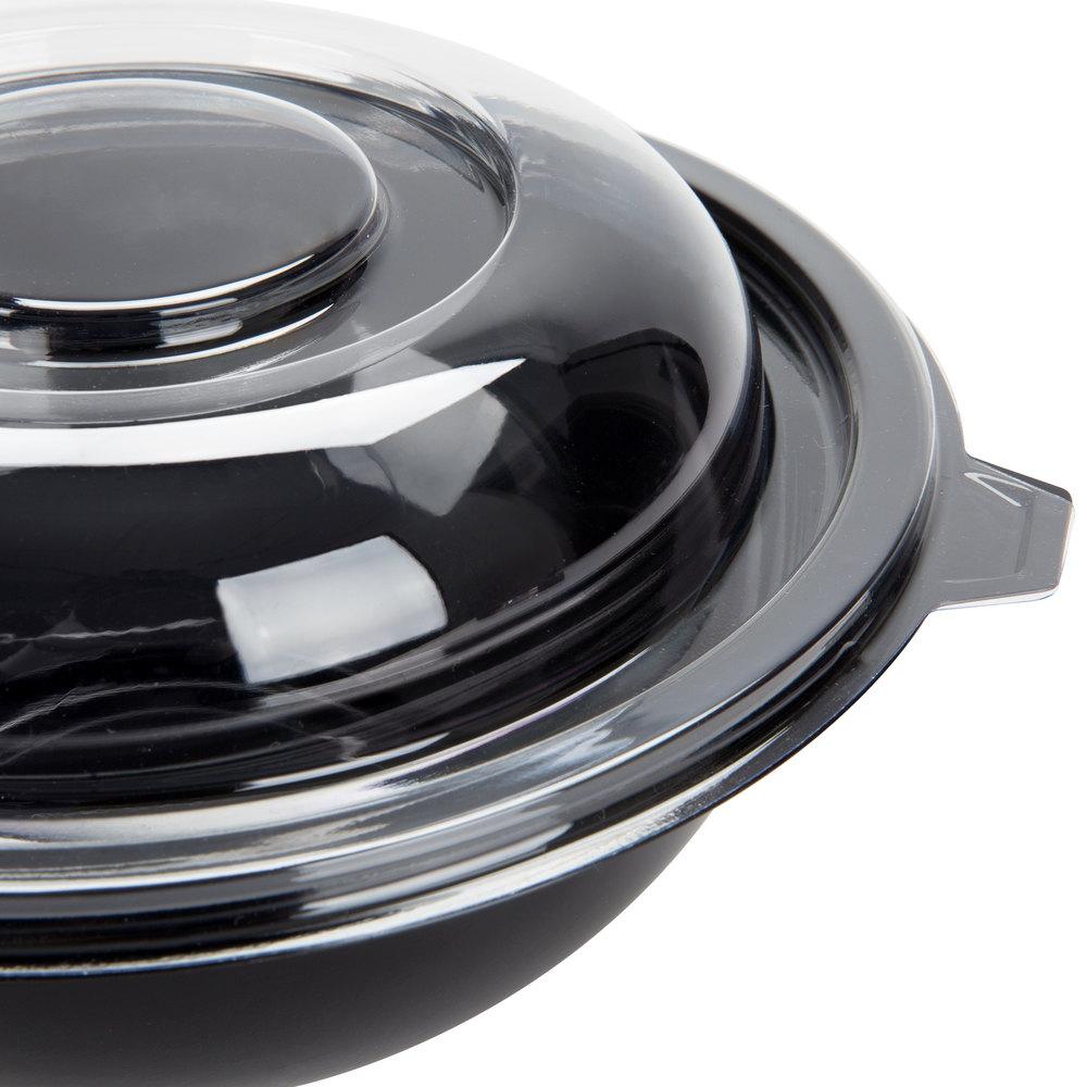 fineline 5032 l super bowl clear pet plastic dome lid for 32 oz bowls 100 case. Black Bedroom Furniture Sets. Home Design Ideas
