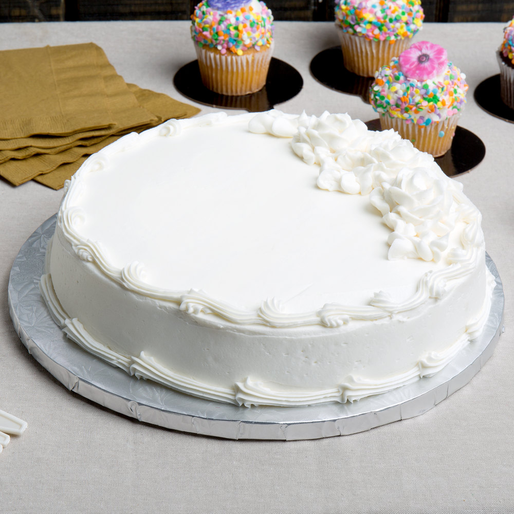 """5 x 7/"""" Single Cut Edge Round Silver Cake Cards Boards"""