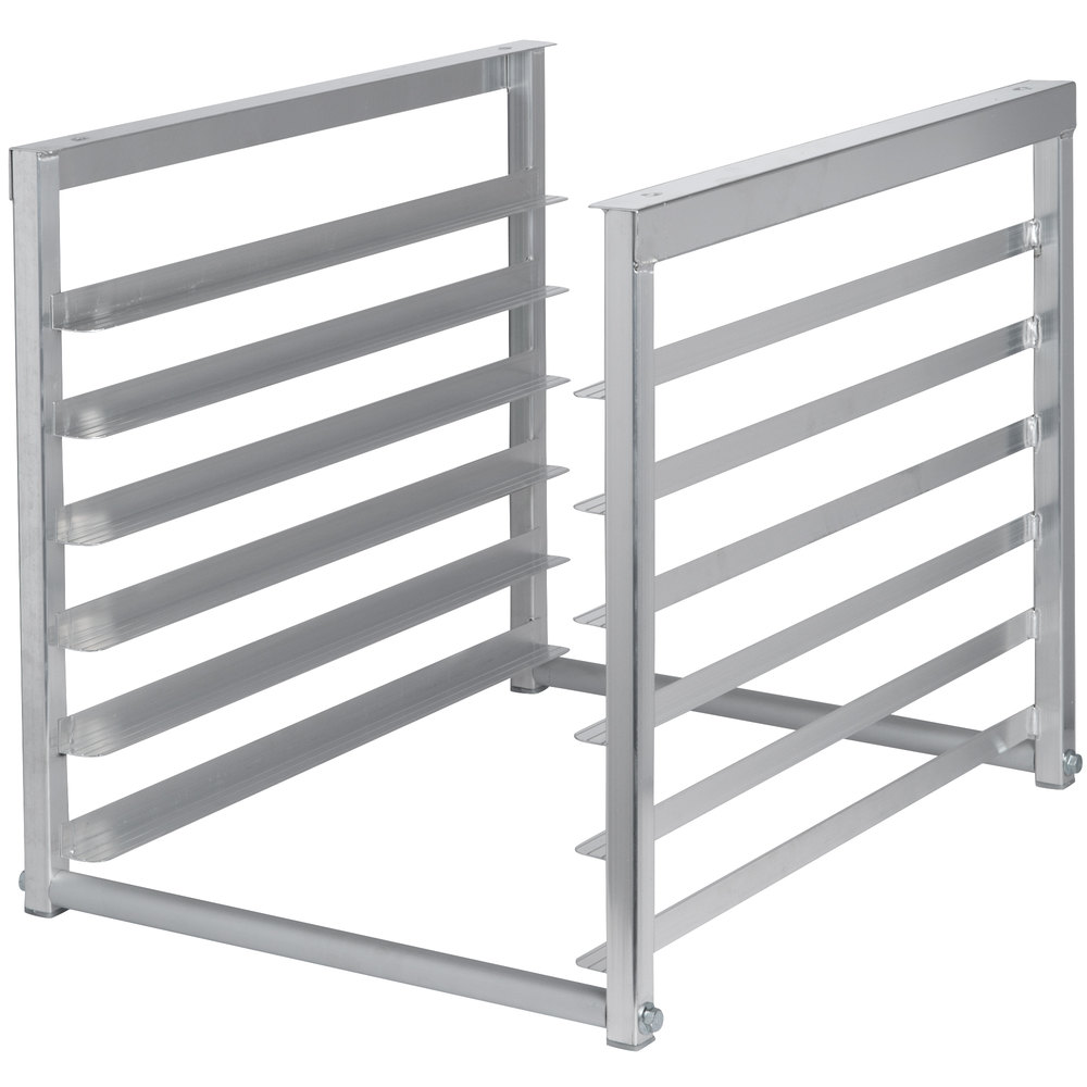 Regency Table-Mounted Aluminum Bun Pan Rack for 30 inch and 36 inch Wide Work Tables - 6 Pan Capacity