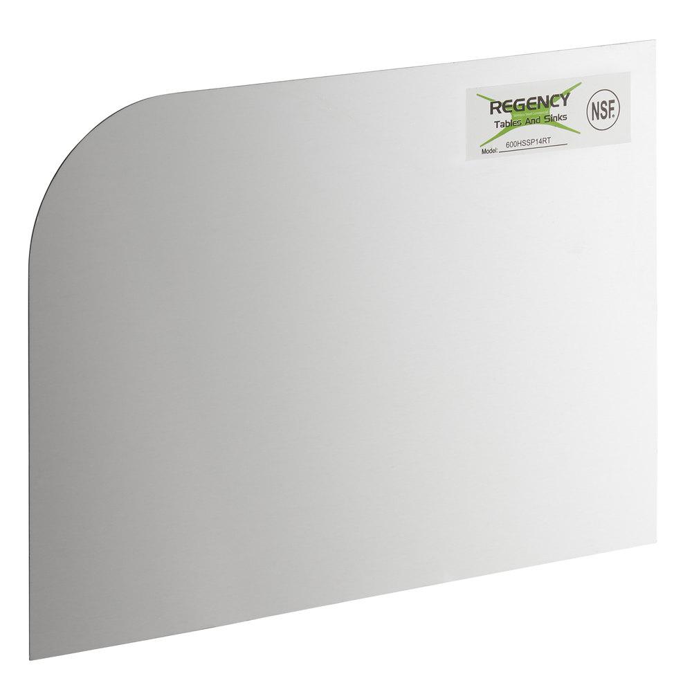 Regency 14 inch x 10 inch Right Hand Stainless Steel Hand Sink Splash Kit