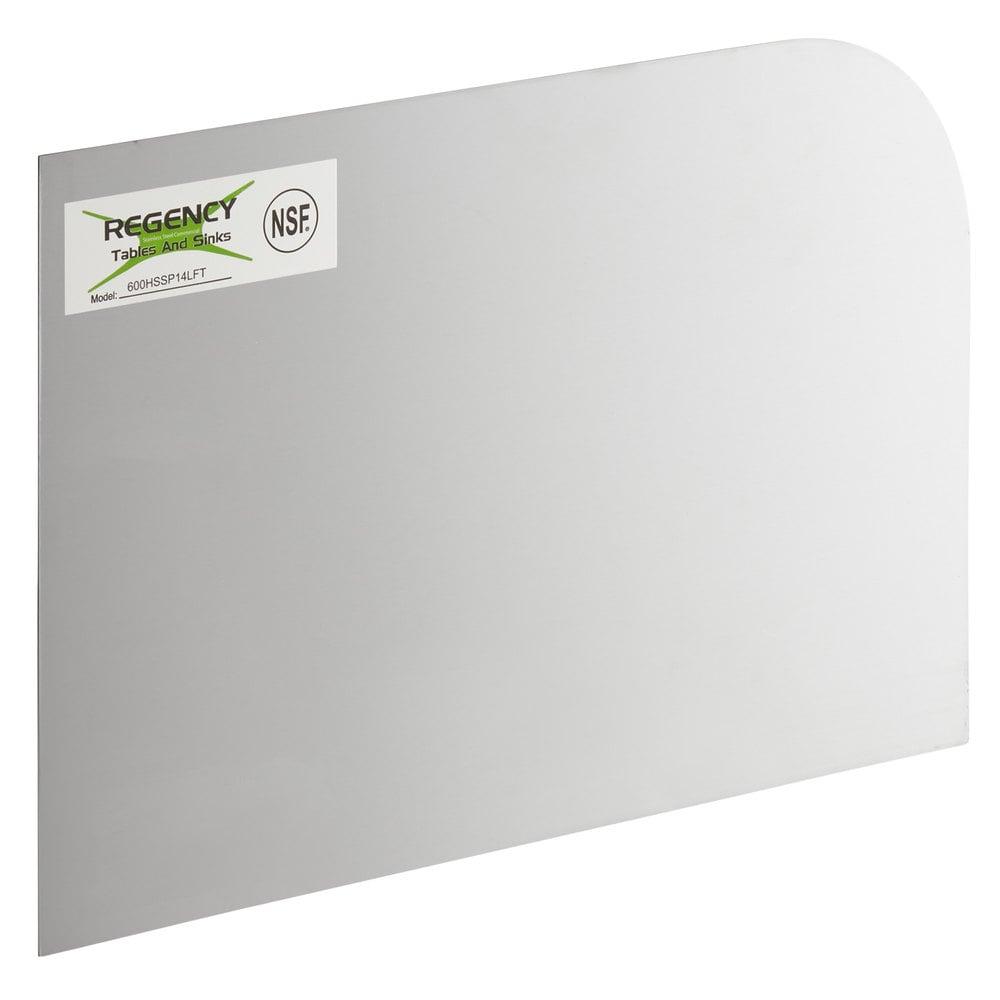 Regency 14 inch x 10 inch Left Hand Stainless Steel Hand Sink Splash Kit