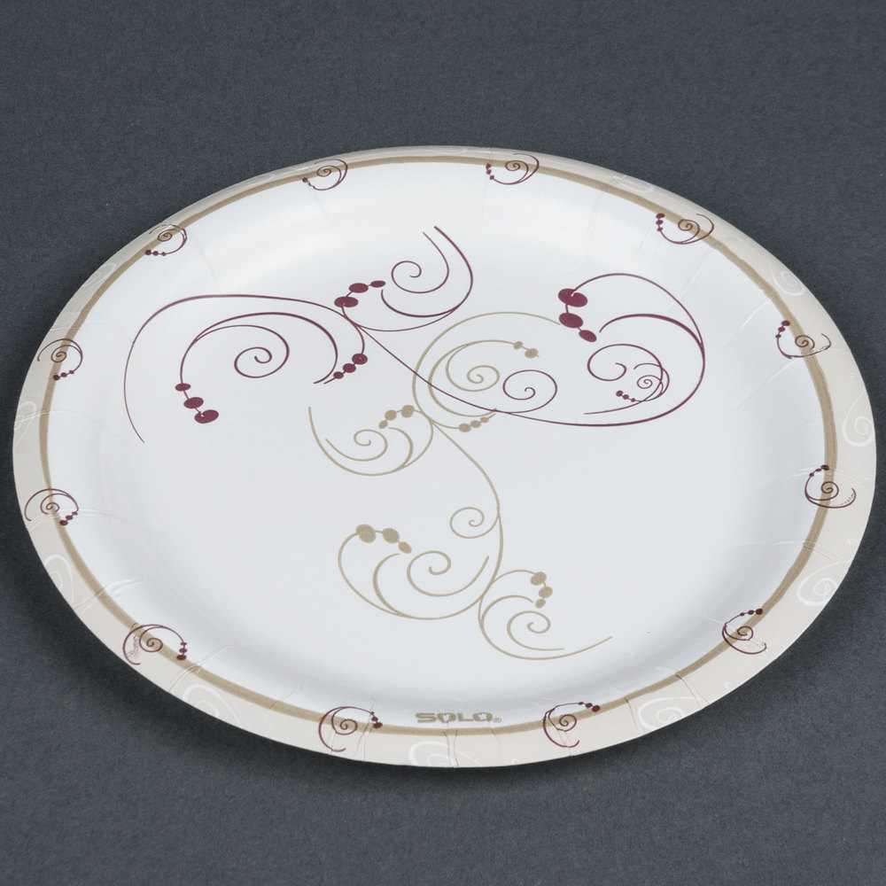 solo paper plates Affordable white uncoated paper plates lightweight design allows plates to be used for multiple purposes dinnerware type: plate material(s): pap.