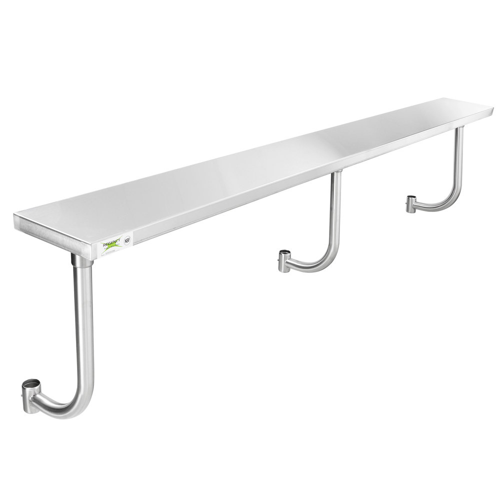 Regency 10 inch x 96 inch Stainless Steel Adjustable Work Surface for 96 inch Long Equipment Stands