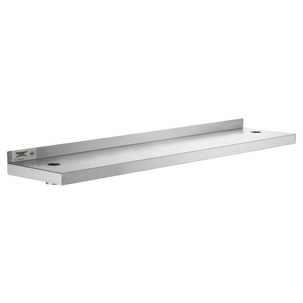 Regency 10 inch x 48 inch Stainless Steel Plate Shelf for 48 inch Long Equipment Stands