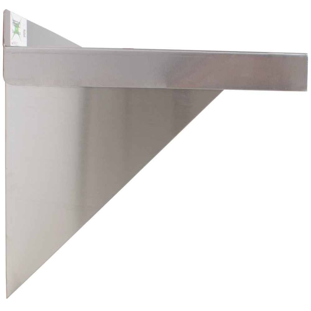 Design Stainless Steel Shelf regency 18 gauge stainless steel 12 x 72 solid wall shelf image preview