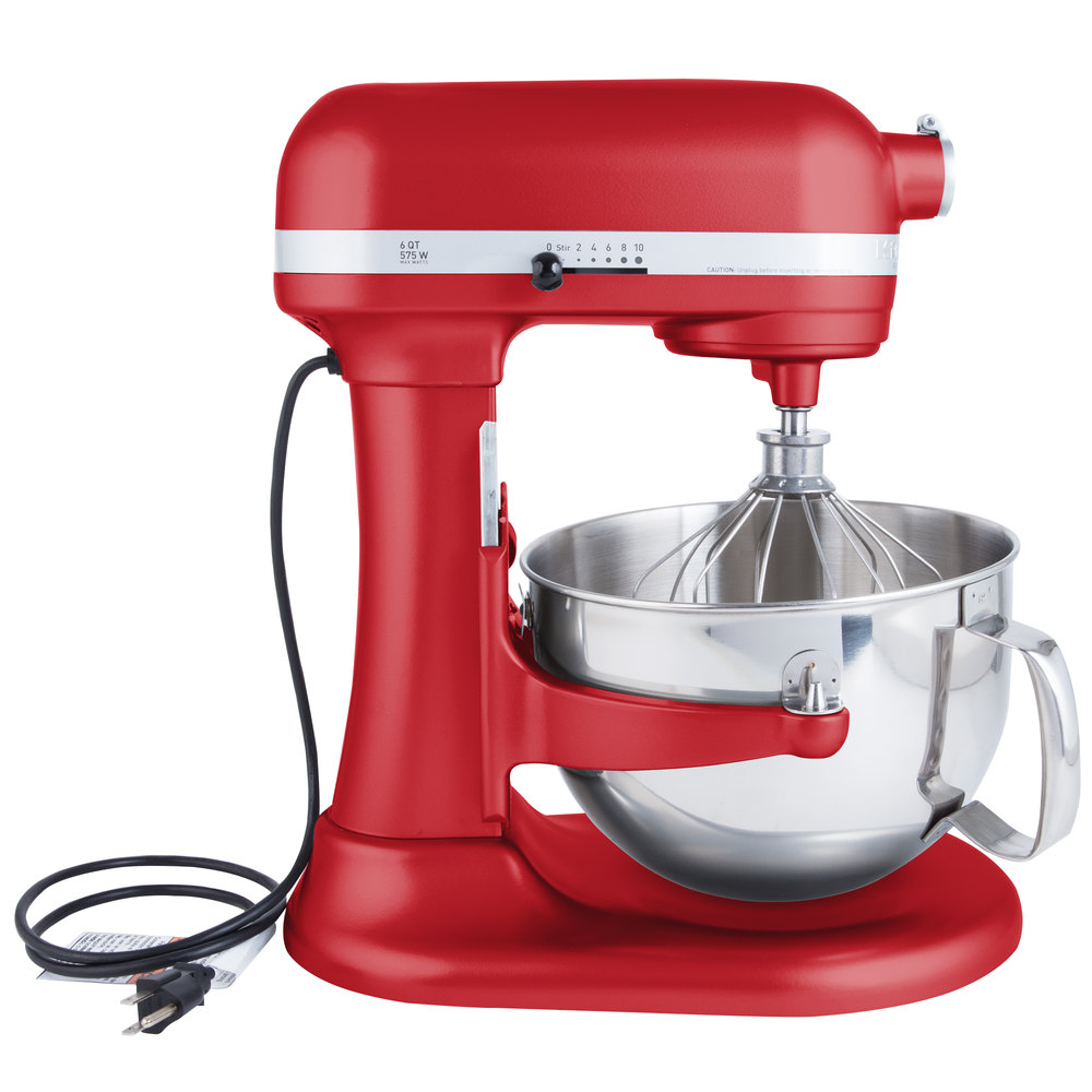 Kitchenaid Kp26m1xer Empire Red Professional 600 Series 6