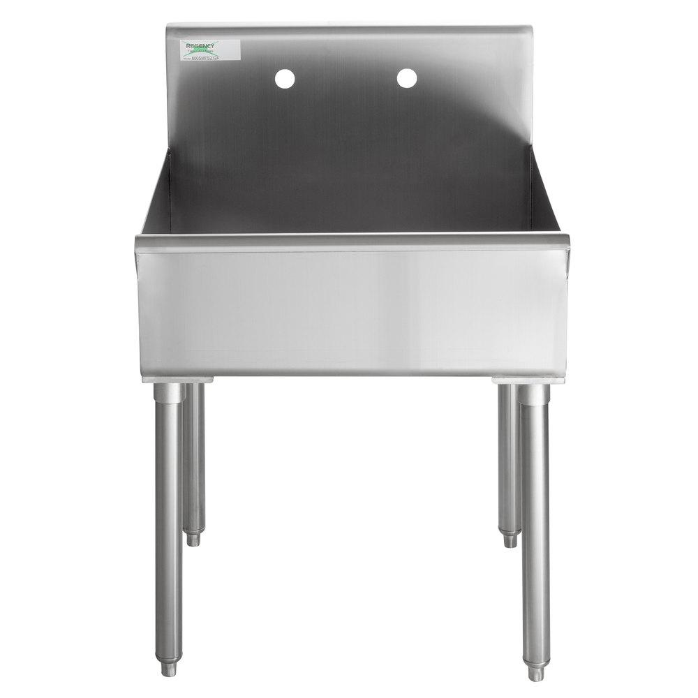 Regency 18-Gauge 304 Stainless Steel Standing Mop Sink - 21 inch x 24 inch x 8 inch