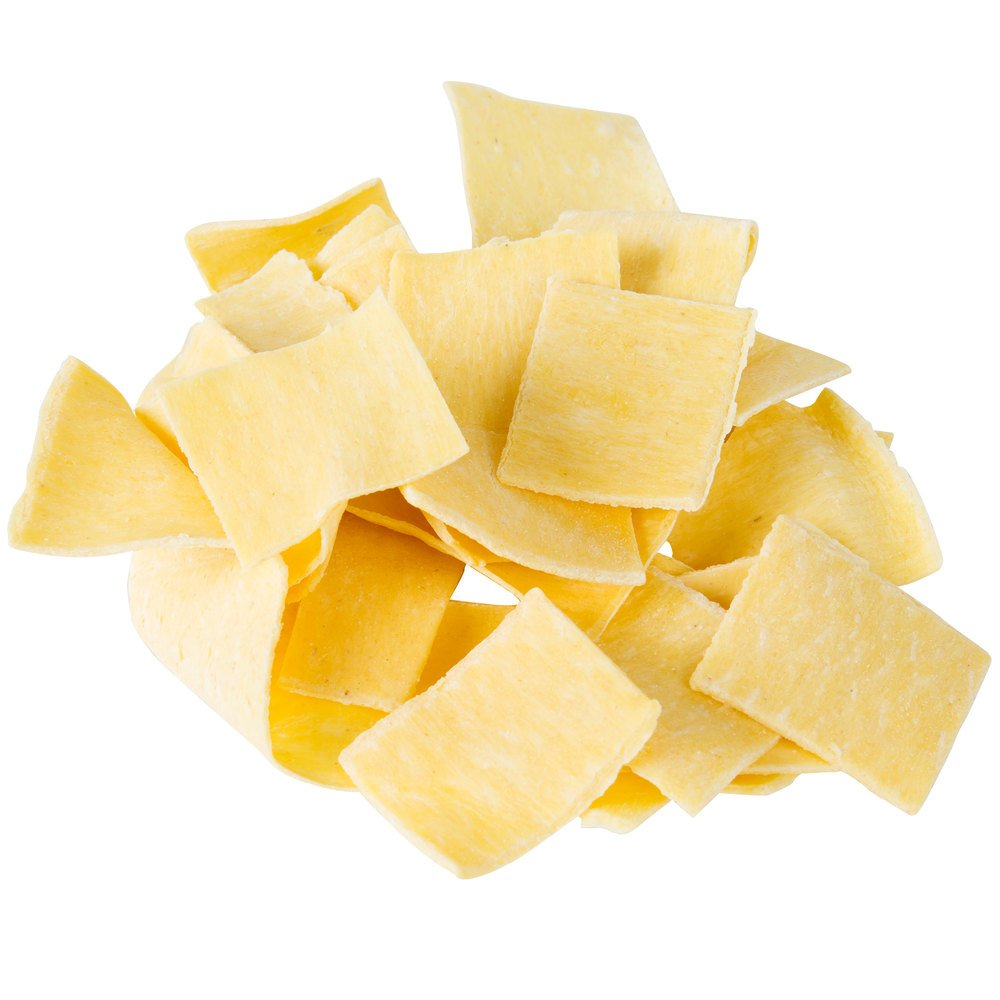 Close up of dry pot pie squares