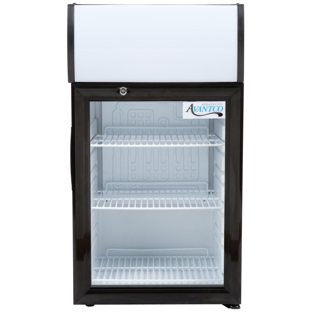 Charming 115 Volts Avantco SC 40 Black Countertop Display Refrigerator With Swing  Door ...