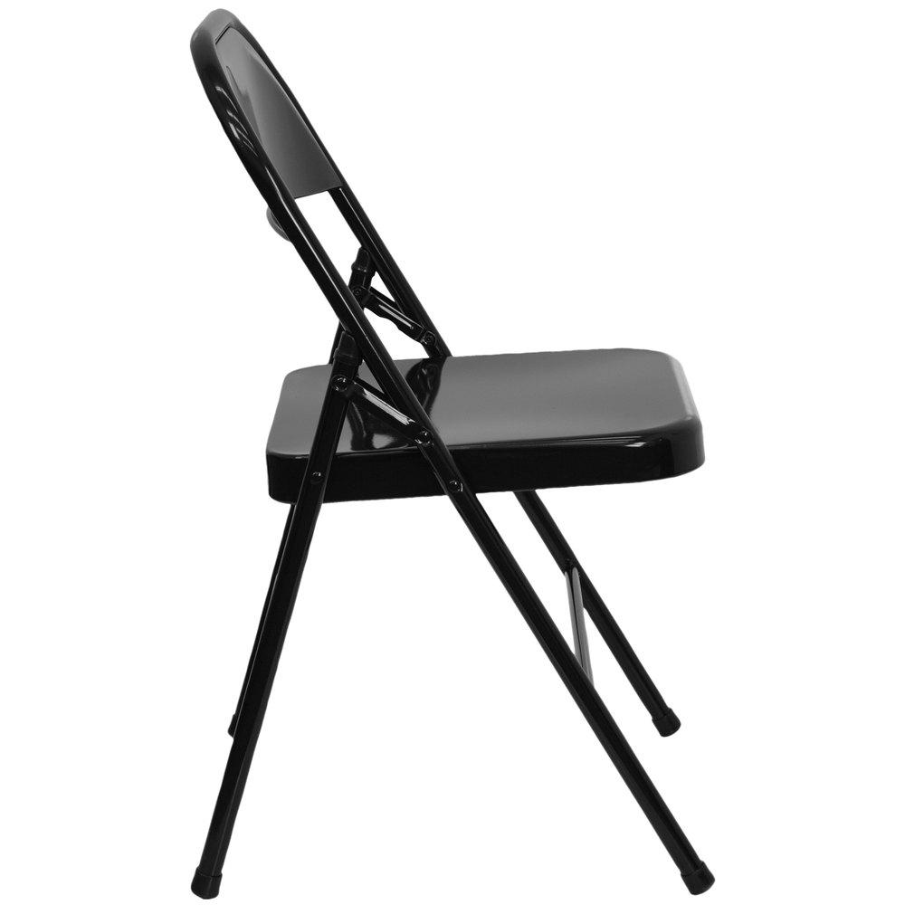 Black Metal Folding Chairs flash furniture hf3-mc-309as-bk-gg black metal folding chair