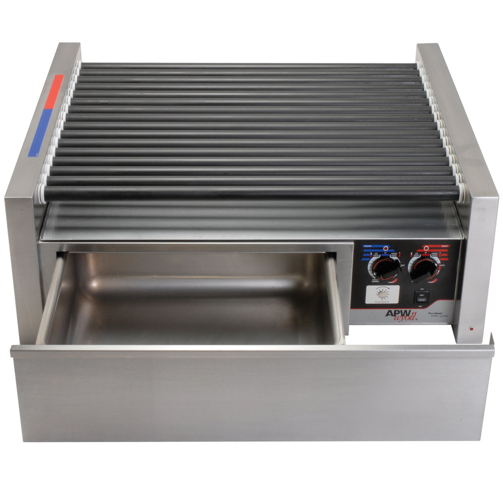 apw wyott hrs 50bw 35 hot dog roller grill with tru turn. Black Bedroom Furniture Sets. Home Design Ideas